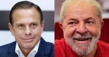 """Em """"namoro explicito"""", Lula volta a elogiar Doria (veja o vídeo)"""