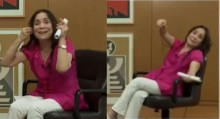 """Em pequena amostragem do que é a Guerra Cultural, Regina Duarte tem """"chilique"""" ao vivo (veja o vídeo)"""