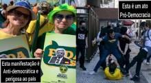 As manifestações pró-democracia (?) e a insana parcialidade da Globo, CNN e toda a grande mídia