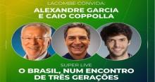 AO VIVO: Estreia do canal de Lacombe com Coppolla e Alexandre Garcia (assista aqui)