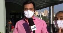 """Mulher invade transmissão ao vivo da Globo e acusa repórter de """"mentir"""" (veja o vídeo)"""