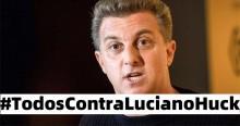 """Huck defende Felipe Neto, povo reage e hashtag """"Todos Contra Luciano Huck"""" fica em 1º lugar na web"""