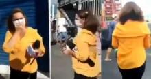 Cidadão revoltado enquadra jornalista da Globo que foge do local (veja o vídeo)