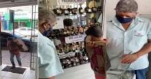 Menino engraxate junta dinheiro para dar presente ao pai e emociona a todos (veja o vídeo)