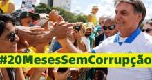 """Povo brasileiro celebra com alegria: """"20 Meses Sem Corrupção"""""""