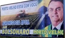 A carta para Bolsonaro no outdoor em Rondônia