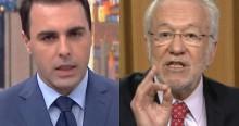 """O tolo apresentador, desmentido """"ao vivo"""" pelo inigualável Alexandre Garcia (veja o vídeo)"""