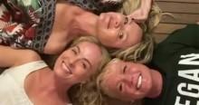 """Sem máscara, Xuxa, Angélica, Eliana e Huck se reencontram em """"festa da hipocrisia"""" (veja o vídeo)"""