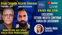 "LIVE da TV JCO debate ""estudo inédito que confirma a farsa do lockdown"""