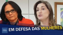 Bolsonaro e ministra Damares combatem violência contra mulheres (veja o vídeo)