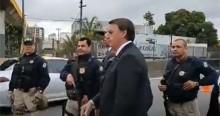Bolsonaro inova e testa popularidade em plena via Dutra (veja o vídeo)