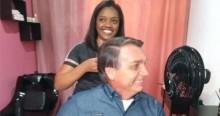 Bolsonaro muda agenda para prestigiar jovem humilde que inaugurava salão de beleza (veja o vídeo)