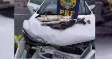 Fugindo da PRF, bandidos sofrem acidente cinematográfico no ES (veja o vídeo)