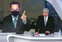 """Clima esquenta e Datena desmoraliza Doria """"ao vivo"""": """"O senhor também não é médico"""" (veja o vídeo)"""
