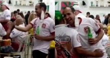 """Prefeito de Santos, ardoroso adepto do """"Fique em Casa"""", é filmado sem máscara, bebendo e sambando (veja o vídeo)"""