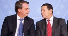 """Bolsonaro acaba com fofocas da """"mídia do ódio"""" sobre Mourão: """"E a caneta BIC é minha"""""""