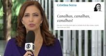 """Devolvendo a ofensa para a jornalista da Folha (ex-Globo): """"Não somos canalhas"""""""