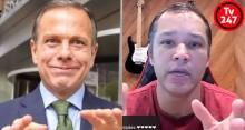"""Ex-Blogueiro do site 247 denuncia: Doria está """"comprando"""" canais de esquerda (veja o vídeo)"""