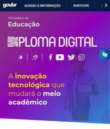 Ministério da Educação investe em Diploma Digital para facilitar a vida dos alunos