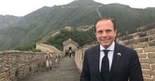 """Em novo ataque a Bolsonaro, Doria sai em defesa da China: """"Tratem bem a China. Respeitem a China"""" (veja o vídeo)"""