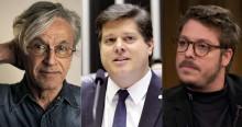 """Para """"atrapalhar"""" Bolsonaro, Caetano e Porchat se juntam em campanha a favor de Baleia"""