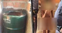 Inacreditável! Criança, que era mantida em cárcere privado dentro de um barril, é resgatada pela PM (veja o vídeo)