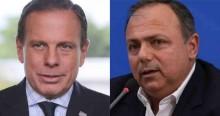 """Pazuello perde a paciência com Doria e sobe o tom: """"Mentiroso e desinformado"""""""