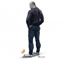 Charge da semana: Sobre homens e ovos