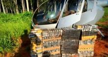PF intercepta helicóptero, prende três traficantes em flagrante e apreende 220 kg de cocaína