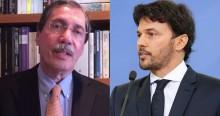 """Ministro Fabio Faria enquadra Merval Pereira e desmente fake news: """"Sua nota é caluniosa e maldosa"""""""