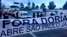 Em SP, caminhoneiros interditam a Marginal Tietê em protesto contra Doria (veja o vídeo)