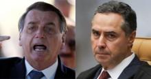 """URGENTE: Bolsonaro detona Barroso: """"Falta coragem moral e sobra militância política; Conhecemos seu passado!"""" (veja o vídeo)"""