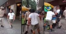 Douglas Gomes, vereador de Niterói (RJ), ajuda camelô agredido por guardas municipais