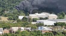 Incêndio atinge Estúdios Globo, no Rio de Janeiro
