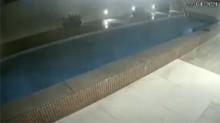 Em cena inacreditável, piscina desaba em condomínio de luxo do Espírito Santo (veja o vídeo)