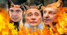 Raposas brincando com fogo...