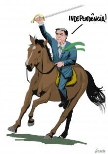 Charge da semana - O grito da independência de Bolsonaro