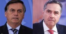 Bolsonaro perde a paciência e enquadra Barroso pelo voto impresso