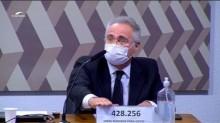 """CPI da Covid: Renan Calheiros """"surta"""" ao saber que Bolsonaro foi a Alagoas inaugurar Complexo Viário (veja o vídeo)"""
