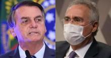 """O recado de Bolsonaro para Renan: """"Tem moral para querer prender alguém?"""" (veja o vídeo)"""