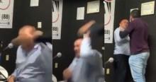 """Aliado de Ciro, """"surta"""" como o """"chefe"""", invade emissora e agride covardemente o locutor (veja o vídeo)"""