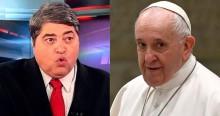 """Papa faz """"piada"""" com o Brasil e Datena desabafa: """"Aí no Vaticano é muita oração e muito ladrão"""" (veja o vídeo)"""