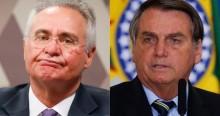 """O recado de Bolsonaro para Renan: """"Quem mata é quem desvia o dinheiro dos estados"""" (veja o vídeo)"""