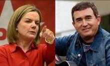 """Gleisi ataca Amado Batista e leva invertida de Fiuza: """"Quem tem que enfrentar a Justiça é o Lula, que é o ladrão"""" (veja o vídeo)"""