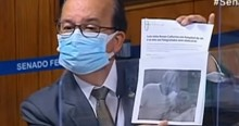 Senador desmascara Renan e mostra foto dele com Lula sem máscara (veja o vídeo)