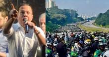 """Sucesso espetacular da """"motociata"""" de Bolsonaro em SP incomoda o """"Calcinha Apertada"""" (veja o vídeo)"""