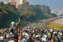 Um dia histórico – Passeio com motociclistas em SP mostra força do presidente Bolsonaro