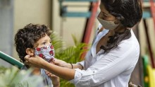 Os mascarados do jardim da infância