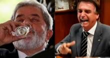 """Bolsonaro ironiza: """"Lula só não é ex-cachaceiro"""" (veja o vídeo)"""