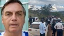 """Bolsonaro elogia o esforço da polícia na perseguição ao serial killer e garante: """"Brevemente estará atrás das grades"""" (veja o vídeo)"""